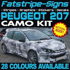 PEUGEOT 207 CAMO GRAPHICS STRIPES DECALS STICKERS CAR VINYL GTI PUG 1.4 1.6 PUG