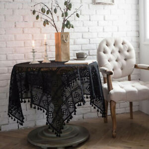 Table Cloth Cream Polyester Lace Victorian Flower Pattern  J