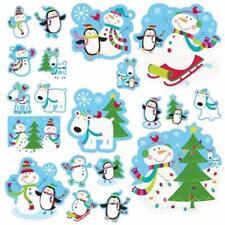 Joyful Snowman Christmas Glitter Cutouts - 20 Pieces