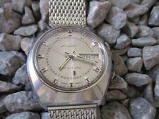 MIDO Matic-Alarm Armbandwecker Automatic 39 mm Voll Edelstahl 70er Jahre 1970s