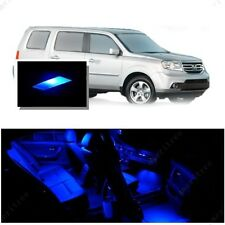 For Honda Pilot 2006-2008 Blue LED Interior Kit + Blue License Light LED