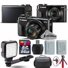 Canon PowerShot G7 X Digital 20.1MP WiFi NFC Camera + EXT BAT + LED - 64GB Kit