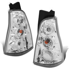 Fit 03-09 Toyota 4Runner Pair Chrome Housing Tail Light Rear Brake/Parking Lamps