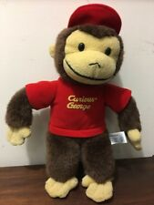 "Curious George Plush Monkey Universal Studios 13"" Red Shirt Soft"