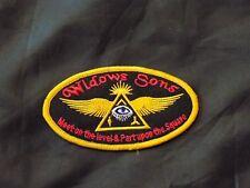 Oval Widows Sons Mason Patch Iron Sew Motorcycle Freemason Fraternity NEW
