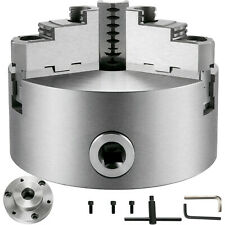 Vevor Metal Lathe Chuck 3 Jaw Self Centering 6 W 1 12 8 Adapter Semi Finished