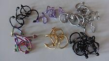 SET 9 Spiralen Twister eloxiert 1,2mm LIP OHR Spike/Ball 3 -4mm lip 10 -11, 5mm
