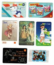 RARE CHARACTER-BASED THAILAND PHONE CARDS!  6 DIFFERENT!  HELLO KITTY & MORE!