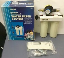 Sears NOS 42-34201 Chemical Contaminant Water Filter Faucet System New Open Box