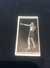 Young Stanley 44 1928 Ogdens Boxing Cigarette card Boxer Pugilists in action