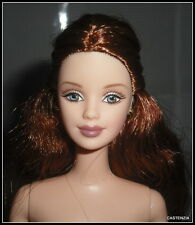 NUDE BARBIE (B) MATTEL GRAND ENTRANCE AUBURN BLUE EYES MACKIE FACE DOLL FOR OOAK