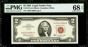 $2 1963 Legal Tender Note Fr#1513 (AA Block) PMG 68 EPQ Superb Gem Uncirculated