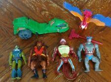 HE-MAN 4 figure Lot MOTU Vintage Masters of the Universe 1980s Creatures Mattel