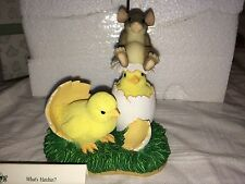 "Charming Tails ""What'S Hatchin?"" Dean Griff Fitz & Floyd Easter Chicks"