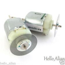 2pcs DC 3V 6V Mini 130 Motor Long shaft  Carbon Brush DC Motor Speed Encoder DIY