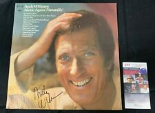 ANDY WILLIAMS HAND SIGNED AUTOGRAPHED ALONE AGAIN VINYL RECORD/ALBUM JSA/COA