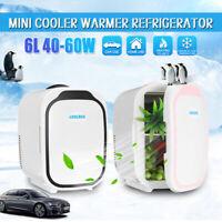Portable 6L Mini Fridge Cooler Warmer Camping Car Home Dual Use Refrigerator
