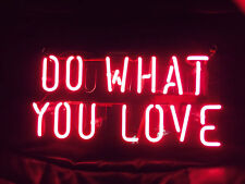 New Do What You Love Red Bar Pub Wall Decor Acrylic Neon Light Sign 14""