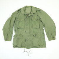 Vtg 60s M-65 Hooded Field Coat Jacket M Nicely Faded Army Green Military Rambo