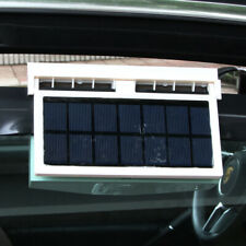 Ideal Car Interior Solar Fan Ventilator Dual Vent Fan Air Circulator Radiator