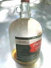 Circa 1950's - 60's COCACOLA Syrup Glass 4# Jugs in Original Coke Carton collect