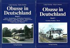 Kenning: Obusse in Deutschland Band 1+2 Handbuch/Fotos/Bilder/Geschichte/Busse