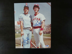 George Brett Fred Lynn Autograph Signed 8 x 10 Photo PSA/DNA Royals / Red Sox