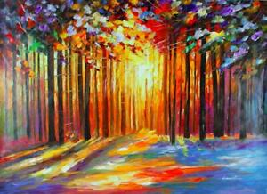 """Sun Of January"" By Leonid Afremov Limited Edition Hand Embellished 30X40"