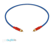 Gotham GAC-1 S/PDIF Pro SPDIF Cable | Red Amphenol RCA | Blue 1 Feet 1 Ft. 1'