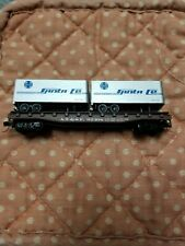 New ListingN scale piggyback flat car w/ trailers Atsf Santa Fe Atlas 3745 good