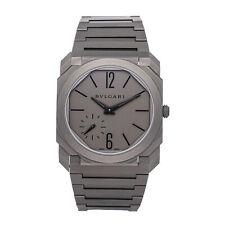 Bvlgari Octo Finnissimo Ultra Thin Titanium Auto 40 Bracelet Mens Watch 102713