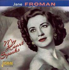 My Heart Speaks * by Jane Froman (CD, Feb-1998, Jasmine Records)