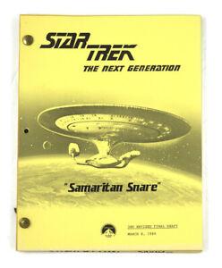"""STAR TREK: TNG ORIGINAL SCRIPT-  """"Samaritan Snare,"""" Written by Robert McCullough"""