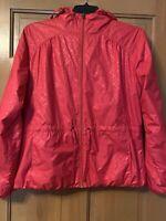Women's Columbia Sportswear Rain Jacket Light Hoodie Red Size XL Lined