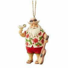 Jim Shore 2019 Margaritaville Santa In Shorts Hanging Ornament 6004010 W/Drink