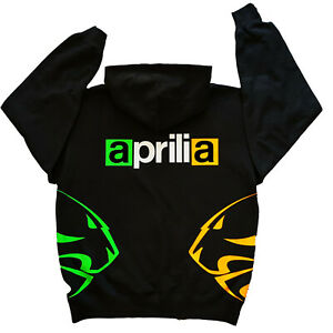 Aprilia INSPIRED 2 LIONS Hoodie  BLACK and fluorescent  sm to xxl motorcycle