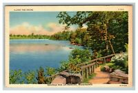 Scenic Greetings from Leominster MA c1941 Linen Postcard L3