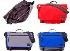 Fossil Travis Nylon Men's Book-bag Laptop Briefcase Marine,Gunmetal,Red Tag