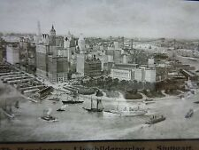 Pittsburgh, PA NY ? Boats 1800s GLASS NEGATIVE SLIDE Benzinger-Lichtbilderverlag
