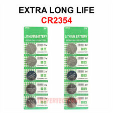 10 PCS CR2354 Lithium Battery 3V Button Cell Computer Portable Devices LONG LIFE