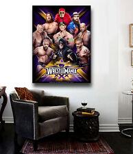 Wrestlemania XXX Canvas Poster Large 30 x 22 Cena, Hogan Daniel Bryan