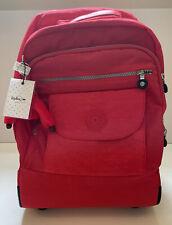 Kipling Rolling Backpack Sanaa Wheeled Carry On Luggage Bag Red Gorilla
