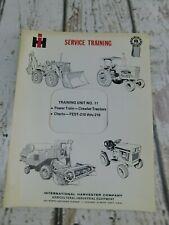 Vtg International Harvester Service Training Manual Unit No 11 Crawlers