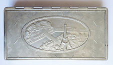 Boite cigarettes aluminium Trocadero Tour Eiffel Makowsky Art Deco eiffel tower