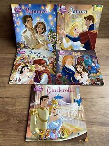 Disney Princess Book Bundle - Cinderella Snow White Belle Rapunzal Aurora