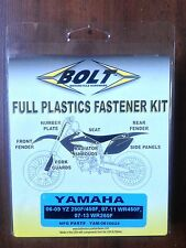 YAMAHA YZF250 YZF 250 YZ250 F 2006 - 2009 plastique fixation vis bolt KIT