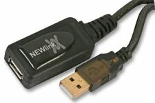 NEWLINK - USB 2.0 Active Repeater Lead, 10m Black