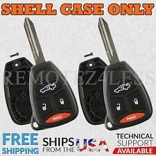 2 For 2005 2006 2007 Jeep Grand Cherokee Remote Shell Case Car Key Fob Cover