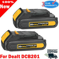 2X Upgrade DCB203-2 FOR DEWALT DCB201 20V 20Volt Max Li-Ion 2.0Ah Battery DCB207