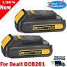 2X Upgrade DCB203-2 FOR DEWALT DCB201 20V 20Volt Max Li-Ion 2.0Ah Battery DCB207